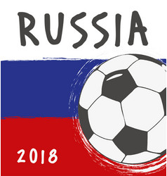 flag design for world cup russia vector image vector image