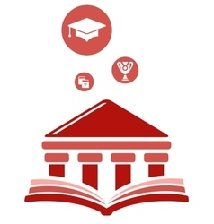 high education symbol vector image