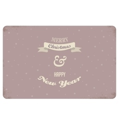 merry christmas vintage card design vector image
