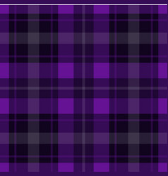 seamless purple black tartan - white stripes vector image