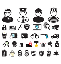 Security set vector image vector image