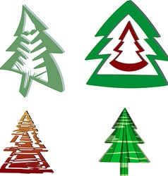 A set of Christmas trees vector image vector image
