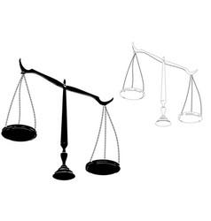 black justice scales vector image