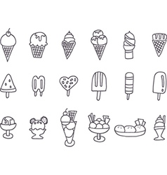 Collection of tasty ice cream vector image