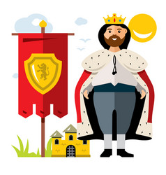 King flat style colorful cartoon vector