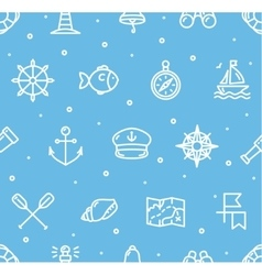 Nautical sea background pattern vector