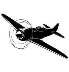 Old fighter airplane vector image vector image