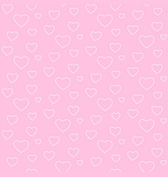 Seamless geometric pattern white heart valentine vector