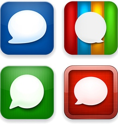 Web speech bubble app icons vector image vector image