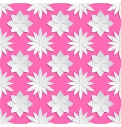 Paper cut flowers background Origami vector image vector image
