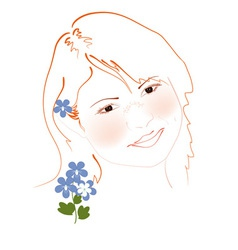 san girl vector image vector image
