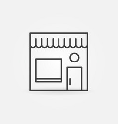 street cafe minimal icon cafe building vector image