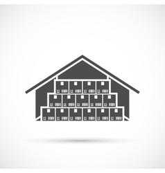 Warehouse icon on white vector image