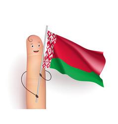 belarus waving flag vector image vector image