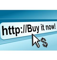internet shop page vector image vector image