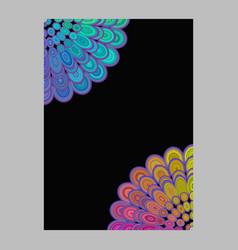 Multicolored abstract floral mandala brochure vector