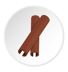 Two cinnamon stick spice icon circle vector