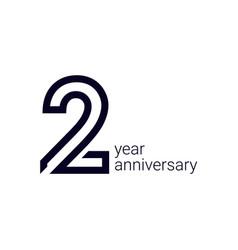 2 year anniversary celebration template design vector
