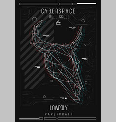 abstract low poly template poster with poligonal vector image