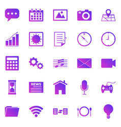 application gradient icons on white background vector image