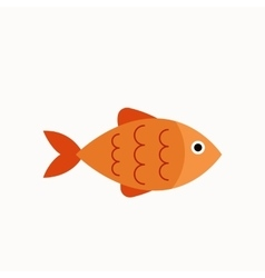Aquarium fish flat icon vector