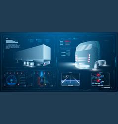 Autonomous smart truck unmanned vehicles vector