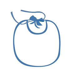 Baby bib blue vector