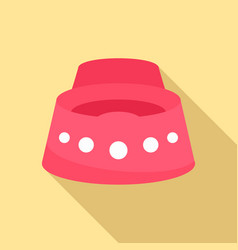 Baby potty icon flat style vector