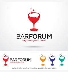 Bar forum logo template vector