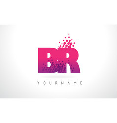 Br b r letter logo with pink purple color vector