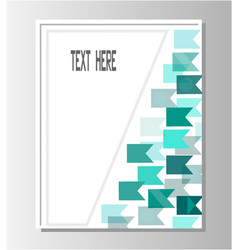 brochure template turquoise flags vector image
