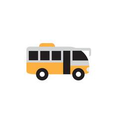bus transportation icon design template vector image