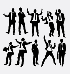 Businessman success people silhouettes vector image