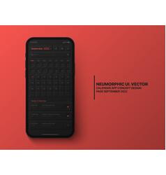 Calendar mobile app september 2022 ui ux vector