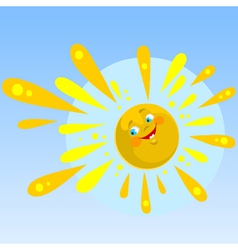 cartoon sun smiling vector image