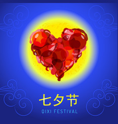 Chinese qixi festival vector