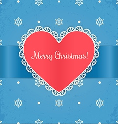 Christmas card with heart vector