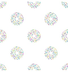 Circles pattern in fashion trend colors vector image