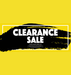 Clearance sale banner vector
