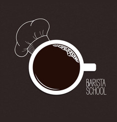 coffee from barista vector image