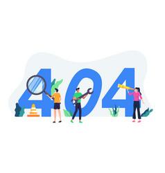 concept page error 404 vector image