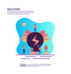 concept solution modern conceptual for banner vector image
