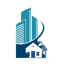 construction and sale of housing symbol vector image