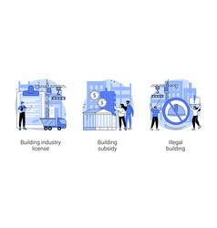 Construction permit abstract concept vector