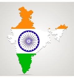 Creative pixel India map vector image