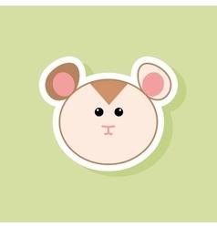 Cute Hamster face vector