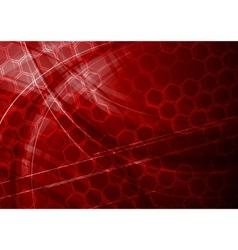 dark red tech background vector image vector image