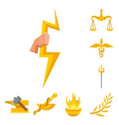 Design attributes and greek symbol vector