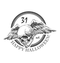 design element for halloween hand drawn eps 8 vector image