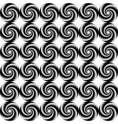 Design seamless monochrome helix geometric pattern vector